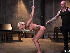 Hot Ass Blonde Endures Rough Sex In Dungeon