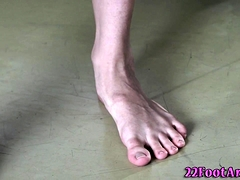 Banged Babe Footfucks