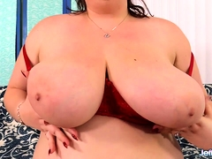 Chubby Harlot Masturbates Before Fucking a Guy