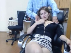 Cute Girl with nice Boobs in the Office (Blowjob)