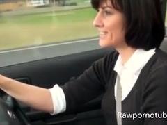 Amateur Wife Masturbating In Her Car