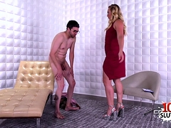 Hot Pornstar Ballbusting And Cumshot