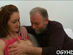 Old Crock Licks A Young Amazing Girl