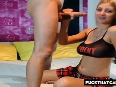 Teen Blonde Webcam Blowjob Fuck Squirt Show