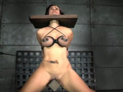 Busty Slave Canned And Toyed By Black Maledom