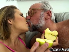 Teen Licked By Old Guy