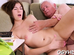 Steaming Young Playgirl Fucks Old Boy