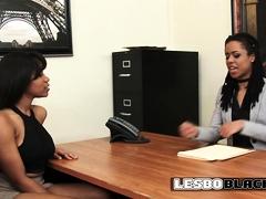Lesbian Boss Motivates Her New Employees