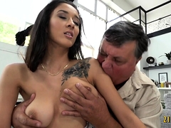 Busty Gal Boned By Gramps