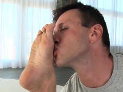 Brunette Pornstar Foot With Cumshot