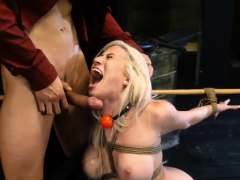 Blonde Teen Masturbation And Bdsm Rope Bondage, Whipping,