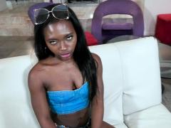 Noemie Bilas Ebony Pussy Receives A Cock