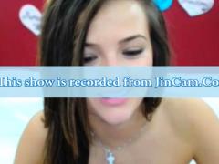Cute Curly Brunette Solo Webcam Masturbation