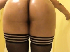 Matures In Stockings Masturbate With Toy