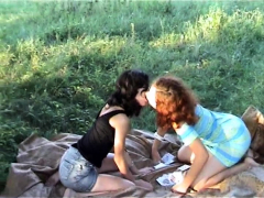Outdoor Teen In Randy Threesome