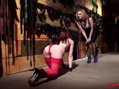 Bondage With Redhead Babe