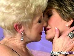 Grannies Share A Big Cock