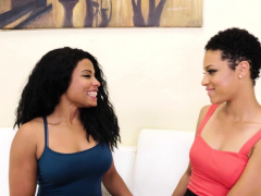 Beautiful Black Lesbian Hotties Make Their Cunts Climax
