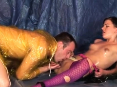 Blind Blowjob Oiled Up For Sex