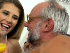 Teen Jizzed By Gramps