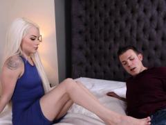 Teenagers Feet Rub Dick