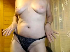 Mature Blonde Granny Loves To Masturbate Her Puss