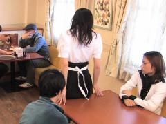 Japanese Waitress Food Gangbang