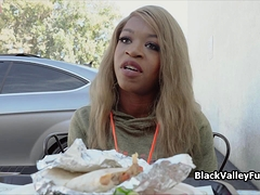 Ebony Beauty Harmonie Blows Cock After Taco