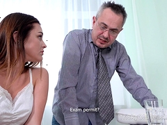 Tricky Old Teacher - Cutie Gets Additional Lesson And Orgasm