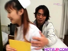 Rina Usui Horny Nurse Takes Patient Cock In Mouth And In
