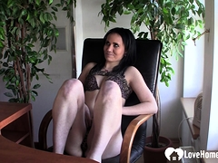 Lonely Babe At The Office Decides To Masturbate