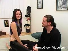 Tattooed Alexia Loves Taking Max's Hard Cock - Tattooed