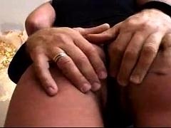 Small Tit Brunette Milf Sucks A Big Cock