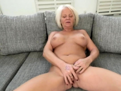 Busty Blonde Gilf Admiring A Hard Dick