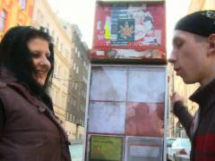 Bbw Picks Up Skinny Guy From Street