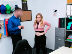 Hot Blondie Fucks A Guard Instead Of