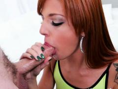 Pretty Redhead Scarlett Mae Sucks A Cock