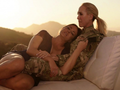 Lesbian Milf Officer Licks Busty Wife