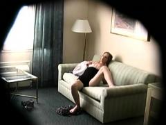 Irresistible Babe Caught Masturbating On Tape