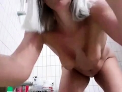 Cute Latino Jerk Off In The Shower And Put A Toy In His