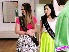 Athena Faris, Judy Jolie In Swap Daughterrs And Penetrate Te