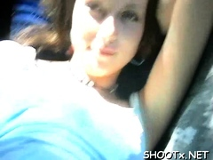 Spicy Young Brunette Bimbo Tanya Gets Screwed