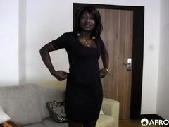 Amateur Ebony Teen Swallows Big Load On Casting