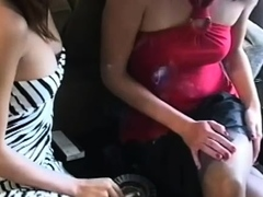 Ribald Bitch Pleasing Her Man While Smoking A Cigarette