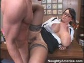 Honry Teacher With Huge Tits Fucks A Young Stud