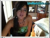 Raquel deepthroats and squirts everywhere on webcam!!