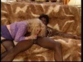 Two hot blondes and one hot bad black boy (CLIP)