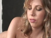 Hot handjob by blonde