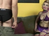 Nasty Cuckold Queen Candy Monroe fucked in spike heels