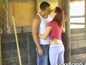 Brandi Sucks Dick In A Horse Stable